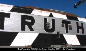 A3 Truth mural San Francisco